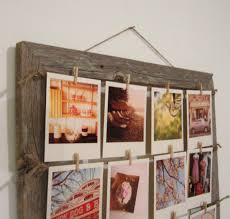 hanging picture frames ideas shabby brown wooden pictures frame with brown rope and photo clip