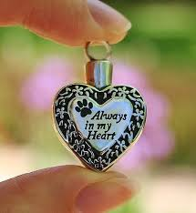 pet ashes necklace pet cremation jewely pendant urn ashes necklace always in my heart