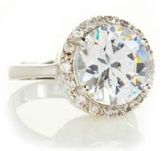 Fake Wedding Rings by Would You Rather Have A Big Fake Diamond Or A Tiny Real Diamond