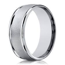 white gold mens wedding band 6mm men s sand blasted 18k white gold designer wedding band
