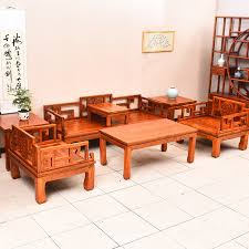 Sofa Wholesale Solid Wood Elm Antique Palace Sofa Seven Sets Of Coffee Table Flat