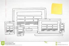 responsive web design stock vector image 43795893
