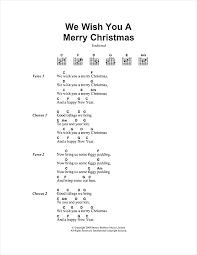 we wish you a merry sheet by carol