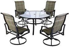 hampton bay statesville 5 piece padded sling patio dining set w 53