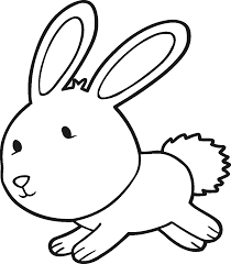 bunnies drawing coloring easter bunny rabbits to draw litle pups
