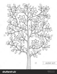 coloring pages tree for adults with shimosoku biz