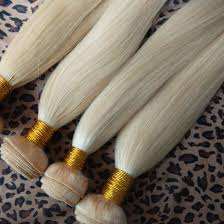 Blonde Weft Hair Extensions by 3 Bundles 613 Blonde Hair Weave Free Shipping Fedex Dhl Headman Hair