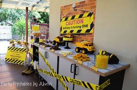 construction party ideas birthday party ideas construction party