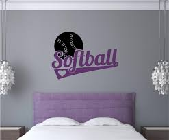 wall decals design stylish softball wall decals