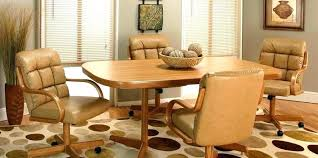 dinette table and chairs with casters rolling dining chairs rolling dining chair swivel dining room chairs