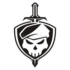 army skull shield stock illustration illustration of