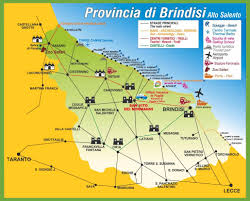 Oasis Map Province Of Brindisi Tourist Map