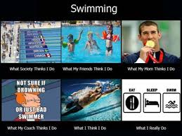 Funny Swimming Memes - a little better just throw church in the eat sleep swim and we re