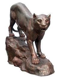 mountain lion statue sized mountain lion statue bronze sculpture