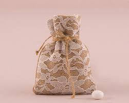 Favor Bag by Rustic Burlap And Lace Drawstring Favor Bag Set Of 12 My