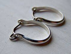 niobium earrings pearl earring open hoop sleeper small
