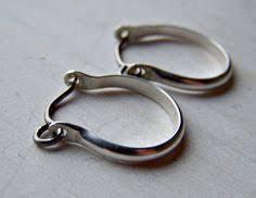 sterling silver earrings sensitive ears niobium earrings pearl earring open hoop sleeper small