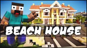 minecraft beach house youtube