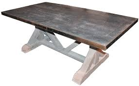 metal top kitchen table madison mccord interiors dining room
