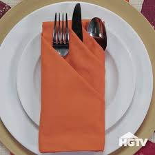 how to make fancy table napkins 3 fancy ways to fold napkins hgtv videos pinterest napkins