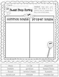 common and proper nouns freebie could sort and write instead of