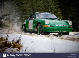 rally porsche porsche 911 rally car in kielder northumberland stock photo