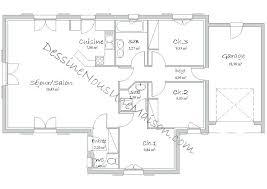 plan maison plain pied 100m2 3 chambres plan maison m chambres plan maison m chambres garage plan maison