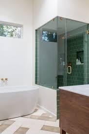 bathroom 9 green bathroom tiles wall motive white bath shelves