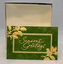 hallmark exclusive boxed cards gold season s greetings 40 cards