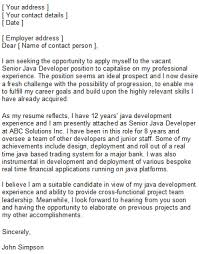 sample cover letter for programmer