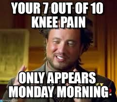 Aliens Meme - your 7 out of 10 knee pain ancient aliens meme on memegen