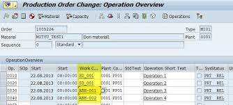 sap production order table production order information system coois erp manufacturing pp