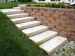 Retaining Wall Stairs Design Interior Decorative Cinder Blocks Retaining Wall Banquette