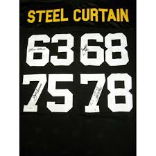 Steel Curtain Pictures Steel Curtain Autographed Pittsburgh Steelers Black Jersey Jsa