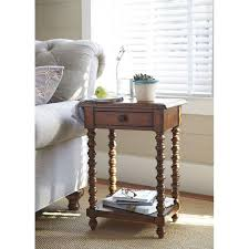 Paula Deen Furniture Sofa by Paula Deen Furniture 59 Side Table With Bobbin Leg Homeclick Com