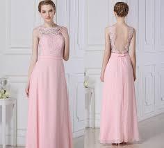 pink bridesmaid dresses lace bridesmaid dress pink chiffon dress a line floor