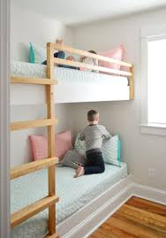 Bunk Beds Built Into Wall How To Make Diy Built In Bunk Beds House
