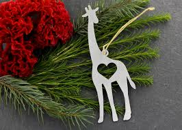giraffe animal aluminum metal ornament rustic home