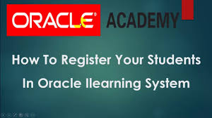 how to register students in oracle ilearning system youtube