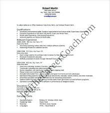 sample resume of data entry clerk data entry clerk cover letter