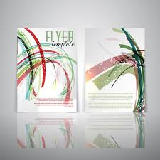 one sided brochure template sided flyer template with abstract design vector free