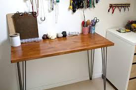 Door Desk Diy Desks Diy Hairpin Leg Desk Desks Office Desk To Save Space