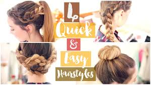 Quick Easy Hairstyles For Girls by How To 4 Quick U0026 Easy Hairstyles Zoella Ad Youtube