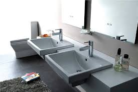 50cm semi recessed basin 1 hole semi recessed