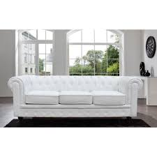 Chesterfield White Leather Sofa 87 L Restoration Chesterfield Faux White Leather Sofa