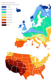 united states map and europe europe vs the united states duration in hours per year