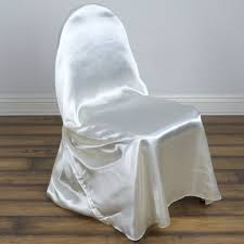 chair covers universal satin chair cover decor ivory efavormart