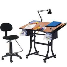 Drafting Table Stools Studio Designs Vision 2 Piece Blue Glass Top Drafting Table With