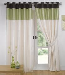 Chocolate Curtains Eyelet Green Chocolate Eyelet Curtains Faux Silk Vienna 66 X 90