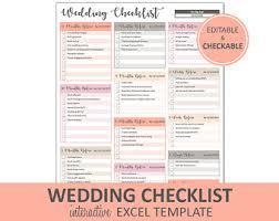 wedding to do to do list etsy